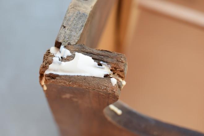 Wood Glue on Leg
