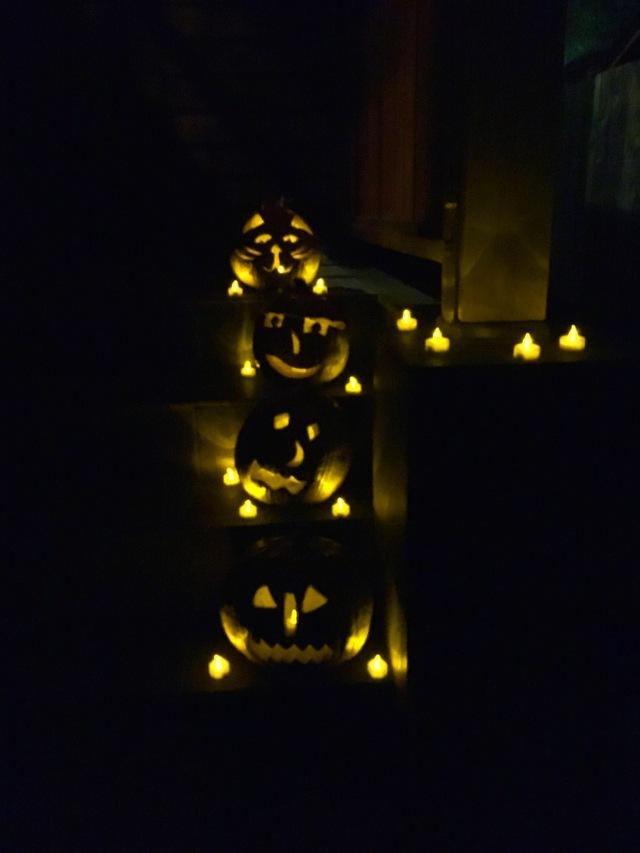 Year One Pumpkins at Night   Land of Laurel