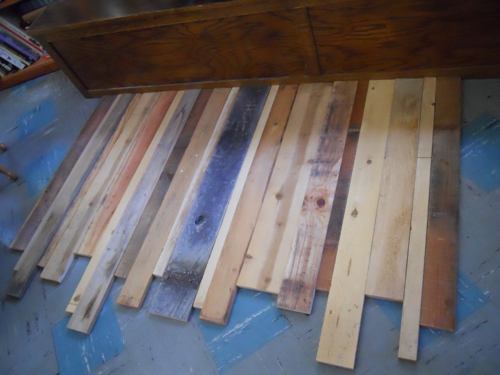 Scrap Wood Lined Up | Land of Laurel