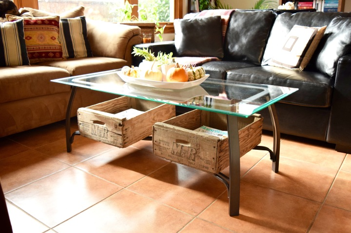 Cherry Crates Under Coffee Table | Land of Laurel