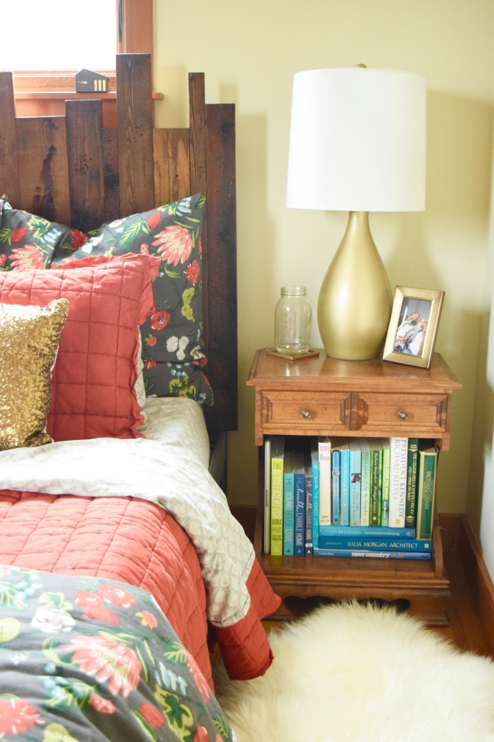 Nightstands and Red Quilt | Land of Laurel
