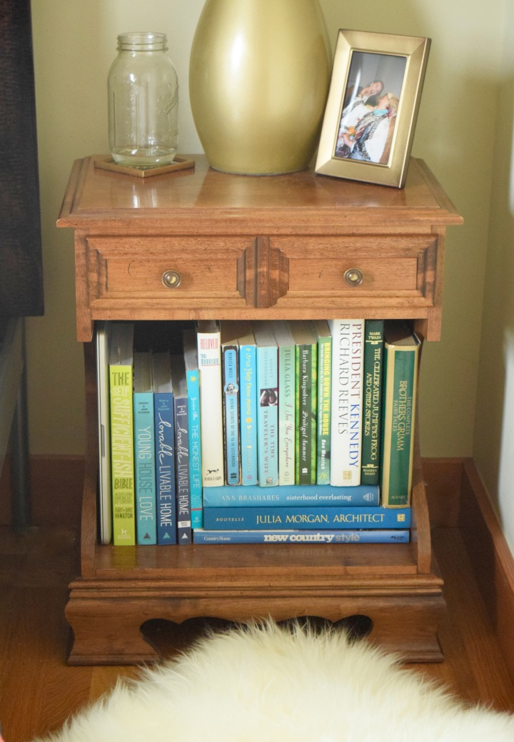 Nightstands with Blue Books | Land of Laurel