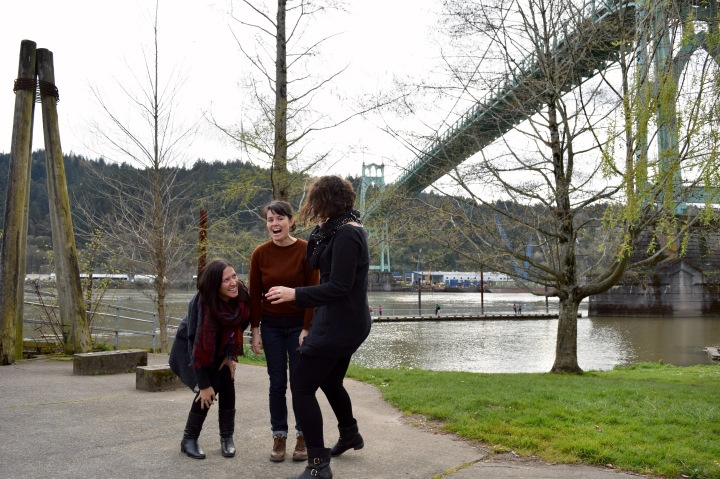 Laughing Under the St. John's Bridge | Land of Laurel