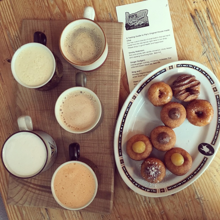 Pip's Originial Doughnuts and Chai Flight | Land of Laurel