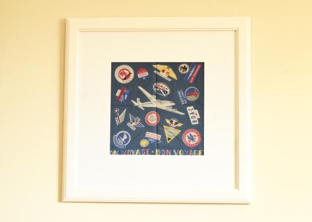 Bon Voyage Handkerchief Art | Land of Laurel