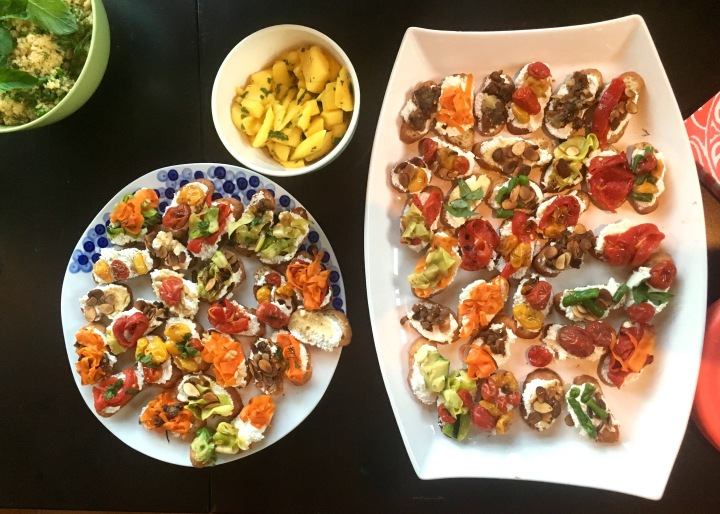Colorful Spring Crostini | Land of Laurel