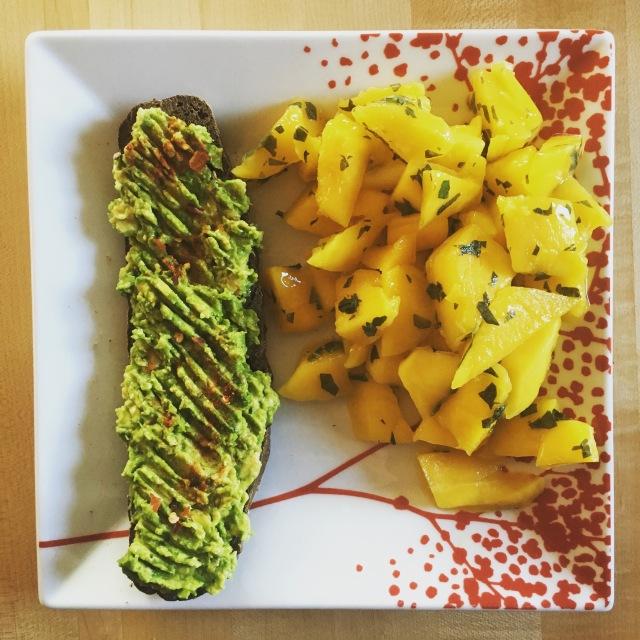 Mango Mint Salad and Avocado Toast   Land of Laurel