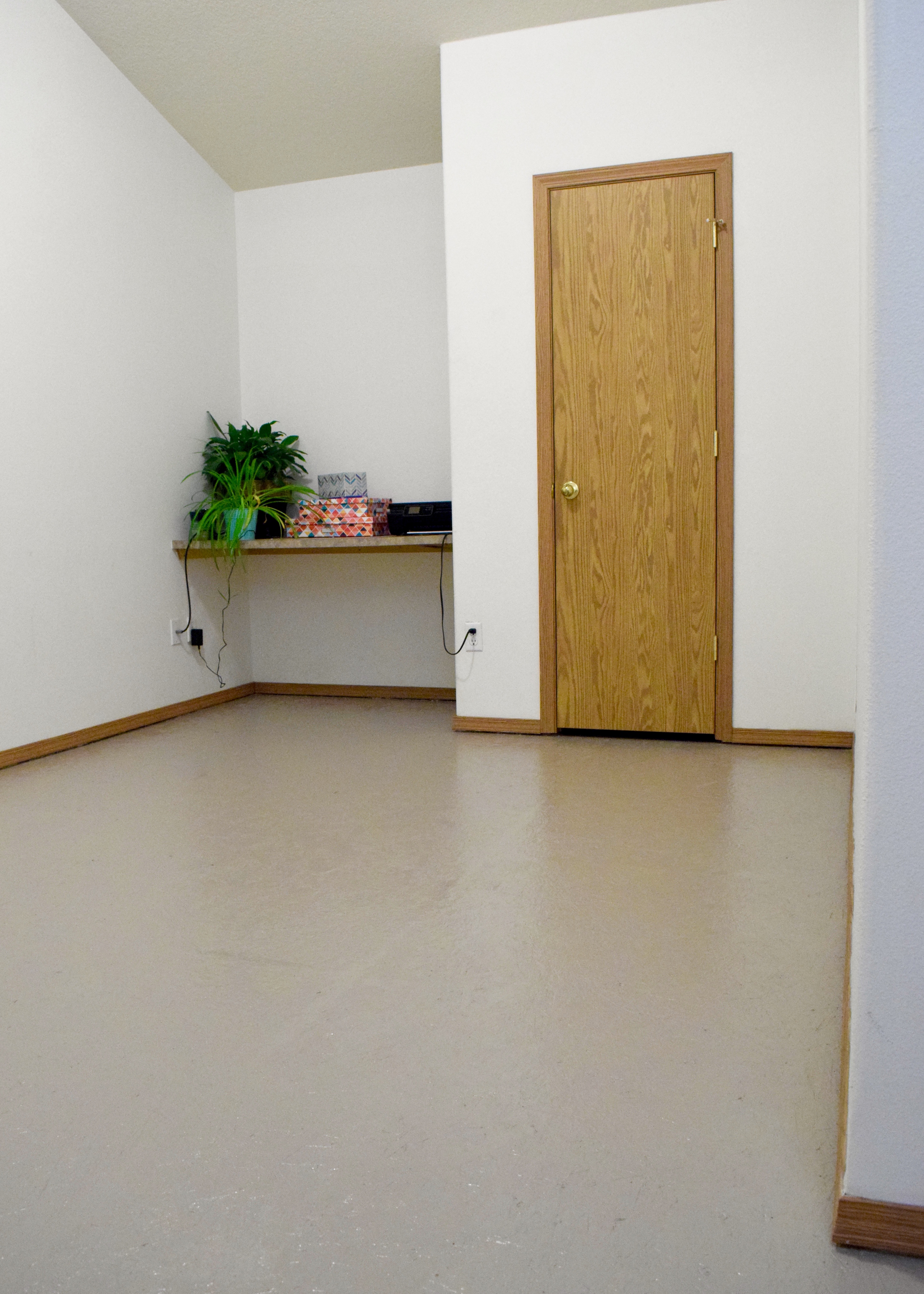 Painted Particle Board Subfloor | Land of Laurel