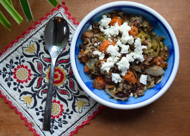 Lemon Veggie Wild Rice | Land of Laurel