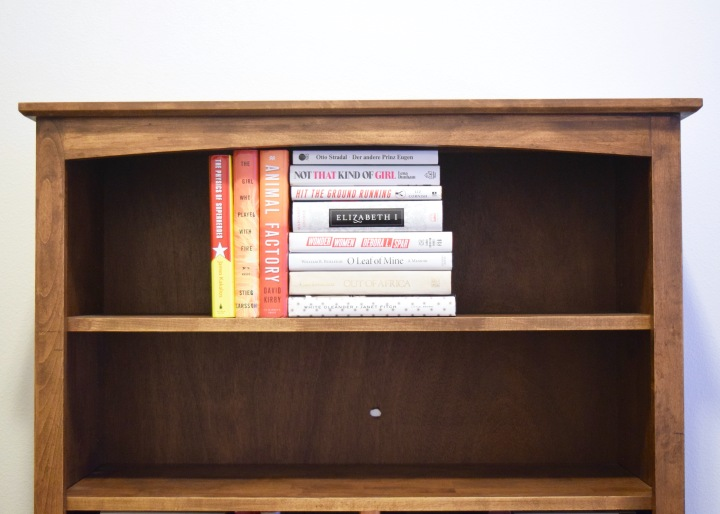 Styling a Bookshelf with Books | Land of Laurel