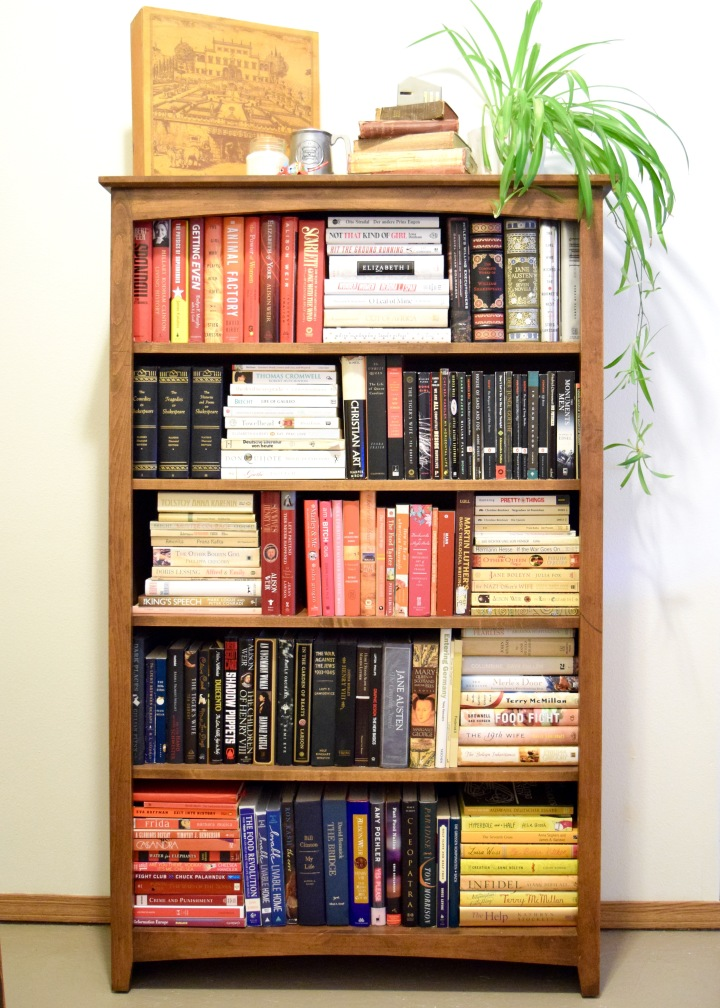 Styling a Bookshelf with Actual Books
