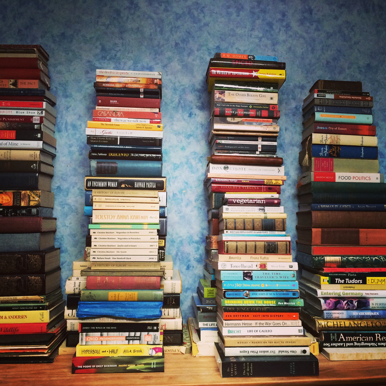 Stacks of Books   Land of Laurel