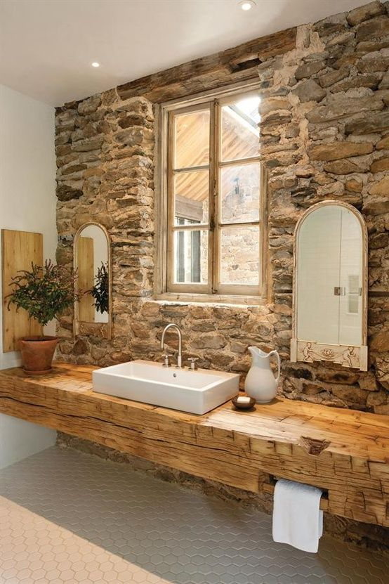 Rustic Stone Backsplash | Land of Laurel