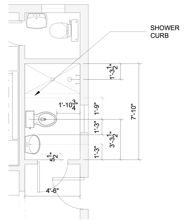 New Bathroom Layout | Land of Laurel
