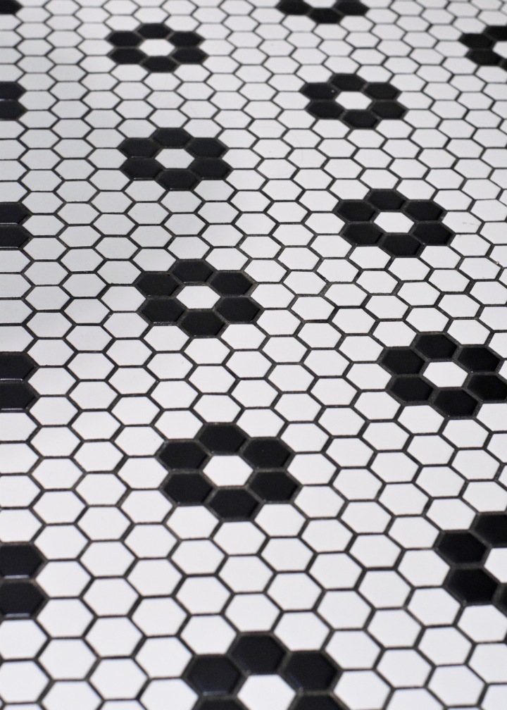 Berrybrier | White and Black Hex Flower Tile Floors.jpg