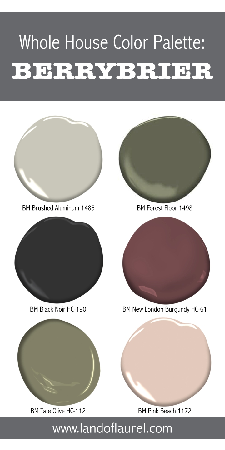 Whole House Color Palette: Berrybrier