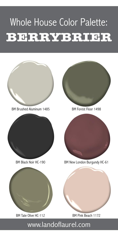 Whole House Color Palette:Berrybrier